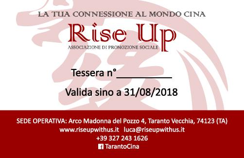 """Associati anche tu a """"Rise Up"""""""